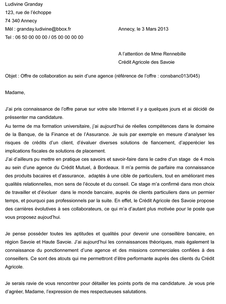 exemple lettre motivation contrat de professionnalisation
